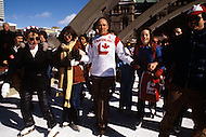 Ottawa, Canada, February 1980. Joseph Philippe Pierre Yves Elliott Trudeau, (October 18, 1919 - September 28, 2000), was the 15th Prime Minister of Canada from April 20, 1968 to June 4, 1979, and again from March 3, 1980 to June 30, 1984.  -  Campaigning ahead of the legislative elctions on May 22 1980.
