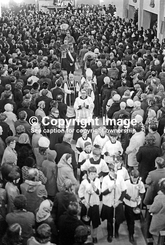 Altar boys &amp; clergy lead the coffins of eleven of the Bloody Sunday victims into St Mary's Roman Catholic Church, Creggan, Londonderry. The funerals of the other two victims took place in the Waterside and in Donegal. 197202020069e, 69/72<br /> <br /> Copyright Image from Victor Patterson, 54 Dorchester Park, Belfast, UK, BT9 6RJ<br /> <br /> Tel: +44 28 9066 1296<br /> Mob: +44 7802 353836<br /> Voicemail +44 20 8816 7153<br /> Email: victorpatterson@me.com<br /> Email: victorpatterson@gmail.com<br /> <br /> IMPORTANT: My Terms and Conditions of Business are at www.victorpatterson.com