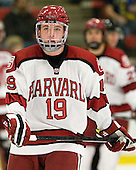 Jimmy Vesey (Harvard - 19) - The Harvard University Crimson defeated the visiting Bentley University Falcons 5-0 on Saturday, October 27, 2012, at Bright Hockey Center in Boston, Massachusetts.