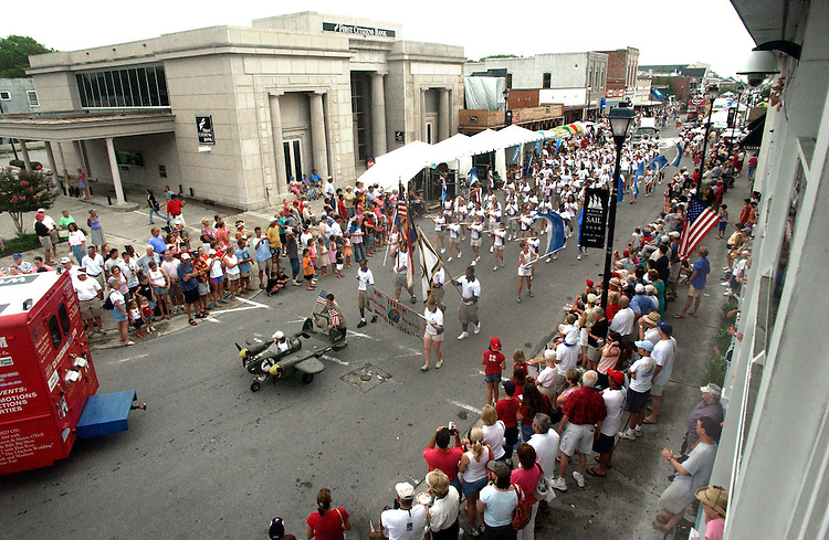 Crowds lined Front Street as the annual Fourth of July Parade made it's way through, Wednesday, July 04, 2006. Beckley New_TallShipFourth