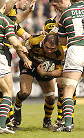 Leicester; ENGLAND; Wasps, Hooker, Raphael Ibanez, burrow's his way through the the conjestion of players during the Guinness Premiership Rugby match,  Leicester Tigers vs London Wasps, at Welford Road on Sat. 22.04.2006. © Peter Spurrier/Intersport-imag