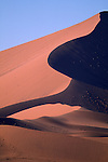 High sand dune in the Little Kulala region of Sossusvlei, Namibia.