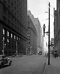 Pittsburgh PA:  View North at the corner of Diamond and Grant Streets - 1935.