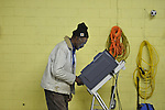 A man votes at the old National Guard Armory in Oxford, Miss. on Tuesday, November 8, 2011. Mississippians go to the polls today for state and local elections, as well as referendums including the so-called Personhood Amendment.