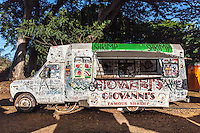 Giovanni's famous shrimp truck in Haleiwa, North Shore, O'ahu.