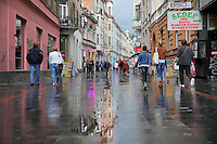Ferhadija Street, a popular pedestrianised shopping street in the part of town built during the Austro Hungarian Empire in the 19th century, in Sarajevo, Bosnia and Herzegovina. The city was originally founded by the Ottomans in 1461. Picture by Manuel Cohen