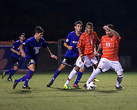 The number 24 ranked Furman Paladins took on the number 20 ranked Clemson Tigers in an inter-conference game at Clemson's Riggs Field.  Furman defeated Clemson 2-1.  Thalse De Mello Moreno (13), Alexandra Rome'o Happi (15), Tony Santibanez (2), Marco Ortiz (13)