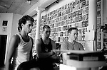 "Summer 2002, New York, NY.. Bryan, Bryant and Ross, all crew members, watch a video of a previous kidnapping job.. In the summer of 2002, New York based artist, Brock Enright and a group of his friends from Virginia, started a kidnapping service called Videogames Adventure Services. The clients would hire them to provide a reality based kidnapping experience, while still retaining the ability to stop the ""game"" at anytime. Parameters were set ahead of the service, detailing the activities to be performed, but the actual time of the kidnapping was kept secret to add to the fantasy. An abuse fetish seemed to be shared by the clients as the activites were more physical than sexual in nature. Prices started at $2500 and the imagination of the client and actors were the only limits."