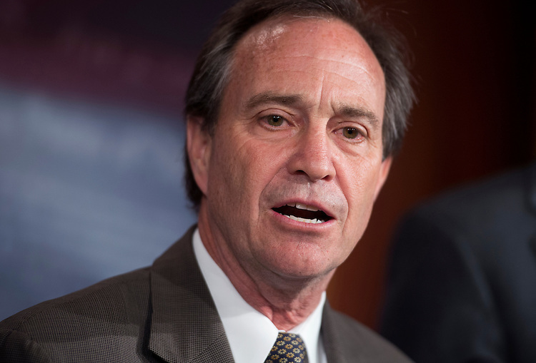 """UNITED STATES - MAY 09:  Rep. Ed Perlmutter, D-Colo., speaks at a news conference to announce the introduction of the Password Protection Act of 2012, that would prohibit employers from """"coercing prospective or current employees into providing access to the employee's private, password-protected accounts."""" (Photo By Tom Williams/CQ Roll Call)"""