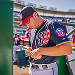 23 May 2015: Washington Nationals starting pitcher Max Scherzer signs autographs prior to a game against the Philadelphia Phillies at Nationals Park in Washington, DC. The Phillies defeated the Nationals 8-1 in the second game of their 3-game weekend series. Mandatory Credit: Ed Wolfstein Photo *** RAW (NEF) Image File Available ***