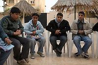Benghazi, Libya, North Africa -- Teenage Libyan Boys, in an English language class.