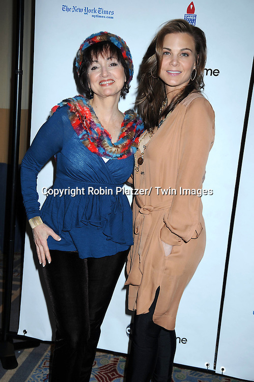 """Robin Strasser and Gina Tognoni posing for photographers at The ABC Daytime Salutes Broadway Cares/ Equity Fights Aids """" An Evening of Musical Entertainment and Comedy""""  Benefit after party  on March 13, 2011 at the Marriott Marquis Hotel in New York City."""