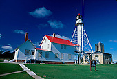 Whitefish Point Lighthouse, Whitefish Point, Michigan, Upper Peninsula of MIchigan, Lake Superior.