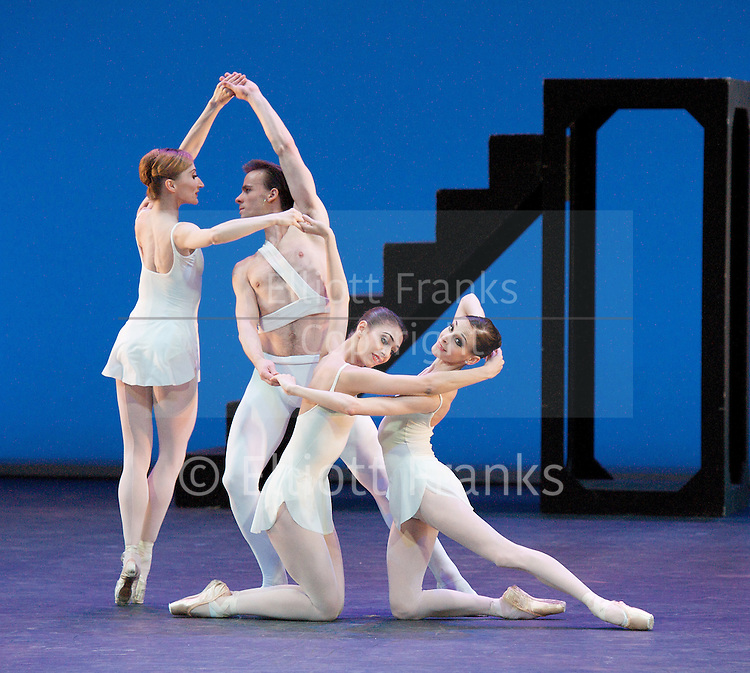 English National Ballet Beyond Ballets Russes at The London Coliseum, London, Great Britain rehearsal 28th March 2012 Apollo choreography by George Balanchine Zdenek Konvalina as Apollo Daria Klimentova (as Terpsichore Anais Chalendard (as Polyhymenia) Begona Cao (as Calliope) Jeux choreography by Wayne Eagling Elena Glurdjidze Dmitri Gruzdyev Fernanda Oliveira Junor Souza Begona Cao James Streeter Daniel Jones Le Train Bleu choreography by Bronislava Nijinska Vadim Muntagirov Suite en blanc choreography by Serge Lifar Kerry Birkett Ksenia Ovsyanick Alison McWhinney Lauretta Summerscales Ken Saruhashi Vadim Muntagirov Crystal Costa Nancy Osbaldeston Anton Lukovkin Van Le Ngoc Laurent Liotardo Daniel Kraus Yonah Acosta Erina Takahashi Zdenek Konvalina Photograph by Elliott Franks