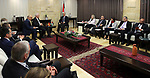 Palestinian Prime Minister Rami Hamdallah meets with Prime Minister of Baden-Wurttemberg, Germany, and Winfried Kretschmann, in the West Bank city of Ramallah on March 30, 2017.Photo by Prime Minister Office