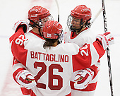 ?, Anya Battaglino (BU - 26), Kaleigh Fratkin (BU - 13) - The Boston University Terriers defeated the visiting University of Windsor Lancers 4-1 in a Saturday afternoon, September 25, 2010, exhibition game at Walter Brown Arena in Boston, MA.