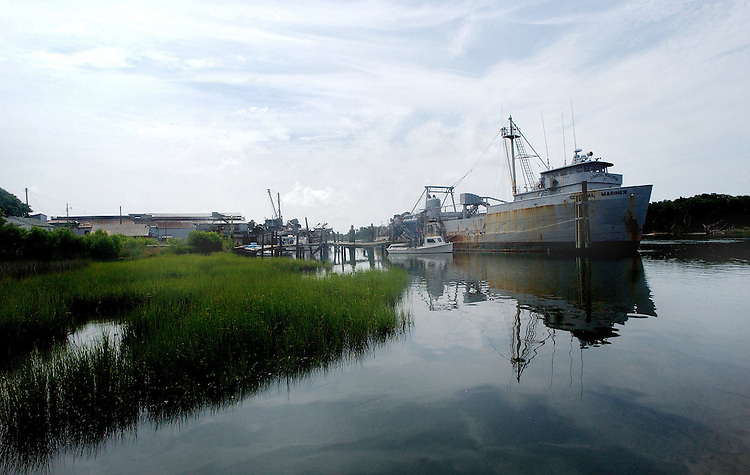 In this file photo, the Coastal Mariner rests at the dock of the Beaufort Fisheries before closing, Friday, April 28, 2006. Beckley New_FishProud