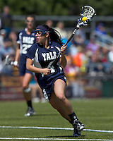 Yale University attacker Kerri Fleishhacker (4). Boston College defeated Yale University, 16-5, at Newton Campus Field, April 28, 2012.
