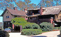 Irving Gill: George Marston House. 3525 7th Ave., San Diego. (N. elevation) Built in 1904-1905. Arts & Crafts style. Photo 2000.