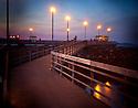 LB00126-00...WASHINGTON - The Edmonds Fishing Pier at sunset. Holga image.