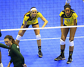 The University of Michigan women's volleyball team beat Michigan State University, 3-0, in the NCAA Tournament Regional Semifinals at Haas Pavilion in Berkeley, Calif., on December 7, 2012.