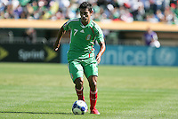 Alberto Medina dribbles the ball. Mexico defeated Nicaragua 2-0 during the First Round of the 2009 CONCACAF Gold Cup at the Oakland, Coliseum in Oakland, California on July 5, 2009.