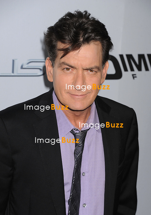 Charlie Sheen arrives at the 'Scary Movie V' - Los Angeles Premiere at ArcLight Cinemas Cinerama Dome on April 11, 2013 in Hollywood, California
