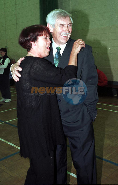 Jimmy Mulroy and Wife after the count that anounced his re-election to the corpo.Pic Fran Caffrey / Newsfile