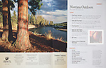 Large ponderosa pine tree in setting sun on the banks of the Clark Fork River. Nelson Kenter photo used in a magazine story