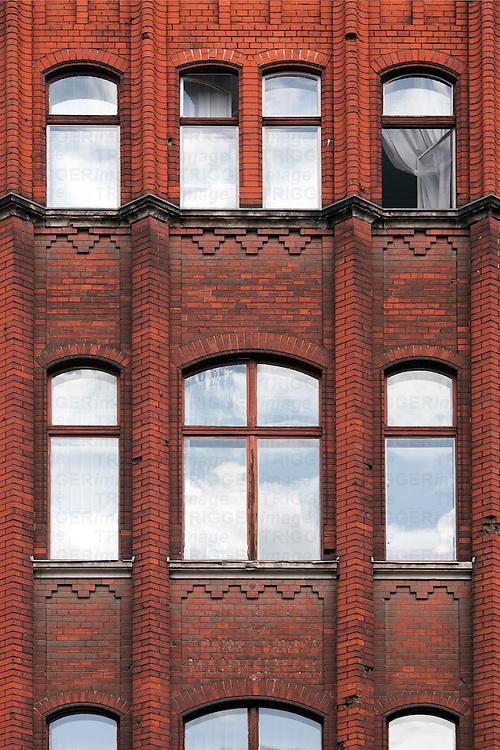 Red brick facade, Berlin, Germany