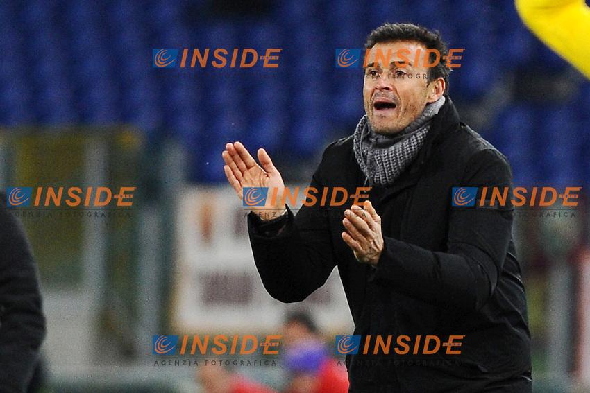 Luis Enrique, allenatore della AS Roma..Roma, 11/01/2012 Stadio Olimpico.Football Calcio 2011/2012 Coppa Italia..Roma vs Fiorentina.Foto Insidefoto Antonietta Baldassarre