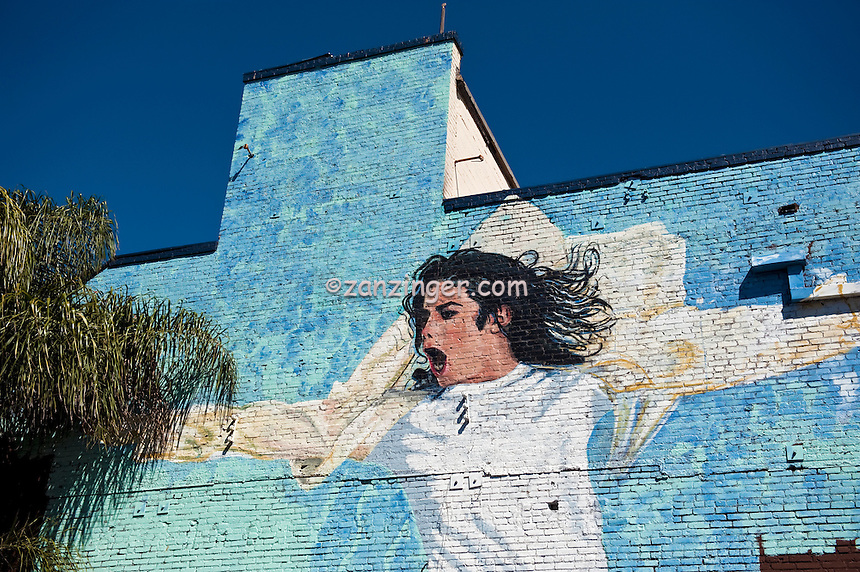 Michael Jackson, Outdoor, Giant, Wall, Mural, Bigger Than Life, Hollywood, Ca