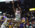 "Ole Miss' Reginald Buckner (23) scores at the C.M. ""Tad"" Smith Coliseum in Oxford, Miss. on Saturday, February 25, 2012. (AP Photo/Oxford Eagle, Bruce Newman).."