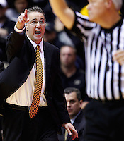 WEST LAFAYETTE, IN - DECEMBER 01: Head coach Matt Painter of the Purdue Boilermakers protests a call during the game against the Xavier Musketeers at Mackey Arena on December 1, 2012 in West Lafayette, Indiana. Xavier defeated Purdue 63-57. (Photo by Michael Hickey/Getty Images) *** Local Caption *** Matt Painter