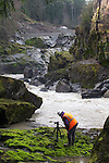 Elwha River Restoration,  Elwha Dam removal, David Fox, Fox Wilmar Productions, river returning to original channel, March 16, 2012, Largest ram removal project in US history, Olympic National Park, Olympic Peninsula, Washington State, Pacific Northwest, USA, North America,