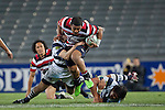 Reynold Lee-Lo fights his through the Auckland defenders.  ITM Cup Round 7 rugby game between Auckland and Counties Manukau, played at Eden Park, Auckland on Thursday August 11th..Auckland won 25 - 22.