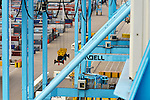 Giant cranes are used to load and unload ships at the APM Terminal at the Port of Rotterdam, on Tuesday Oct. 27, 2009, in Rotterdam, the Netherlands. (Photo © Jock Fistick)