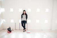 Regina Pozo at the Archivo de Diseño y Arquitectura in Mexico City part of the Moving Portrait series.