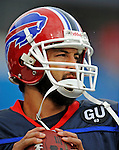 7 September 2008:  Buffalo Bills' quarterback J.P. Losman warms up prior to a game against the Seattle Seahawks at Ralph Wilson Stadium in Orchard Park, NY. The Bills defeated the Seahawks 34-10 in the season opening game...Mandatory Photo Credit: Ed Wolfstein Photo