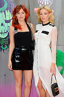 LONDON, ENGLAND - AUGUST 3: Georgia May Jagger and Clara Paget attending the 'Suicide Squad' European Premiere at Odeon Cinema, Leicester Square on August 3, 2016 in London, England.<br /> CAP/MAR<br /> &copy;MAR/Capital Pictures /MediaPunch ***NORTH AND SOUTH AMERICAS ONLY***