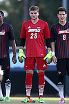 23 October 2015: Louisville's Casey Axman. The University of North Carolina Tar Heels hosted the University of Louisville Cardinals at Fetzer Field in Chapel Hill, NC in a 2015 NCAA Division I Men's Soccer match. UNC won the game 2-1.