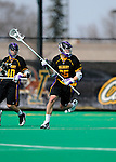 10 April 2011: University at Albany Great Dane midfielder Jack Nickla, a Sophomore from Brookhaven, NY, in action against the University of Vermont Catamounts on Moulton Winder Field in Burlington, Vermont. The Catamounts defeated the visiting Danes 11-6 in America East play. Mandatory Credit: Ed Wolfstein Photo