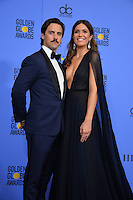 Mandy Moore &amp; Milo Ventimiglia at the 74th Golden Globe Awards  at The Beverly Hilton Hotel, Los Angeles USA 8th January  2017<br /> Picture: Paul Smith/Featureflash/SilverHub 0208 004 5359 sales@silverhubmedia.com