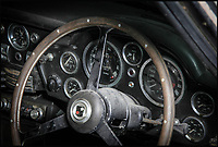 BNPS.co.uk (01202 558833)<br /> Pic: Historics/BNPS<br /> <br /> This dusty old Aston Martin that hasn't turned a wheel in 35 years is expected to fetch a whopping &pound;150,000 when it goes under the hammer. <br /> <br /> The rickety DB6 dates to 1967 but hasn't seen the light of day since the 1980s and even before then only clocked up 2,000 miles. <br /> <br /> After being dusted off and presented to auctioneers the classic motor is now offering car-nuts the unique opportunity to acquire an untouched DB6. <br /> <br /> Incredibly, the ramshackle motor shown here costs the same amount as a 2017 DB11 and experts estimate it'll cost another &pound;100,000 to return it to its former glory.