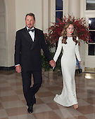 Larry Ellison, Executive Chairman and CTO, Oracle and Nikita Kahn arrive at the State Dinner for China's President President Xi and Madame Peng Liyuan at the White House in Washington, DC for an official State Visit Friday, September 25, 2015. Credit: Chris Kleponis / CNP