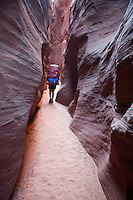Hiking to Buckskin Gulch via Wire Pass