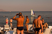 Sudak, Crimea, Ukraine<br /> August 31, 2005 <br /> <br /> Sudak beach on the last day of summer.