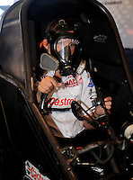 Apr. 13, 2008; Las Vegas, NV, USA: NHRA funny car driver Ashley Force during the SummitRacing.com Nationals at The Strip in Las Vegas. Mandatory Credit: Mark J. Rebilas-