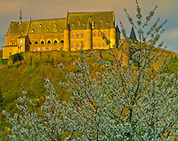 Castle at Vianden Ardennes Mountains, Luxembourg Home of Victor Hugo Ninth Century fortress along Our R. Afternoon 45 H IC APRIL