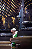 Pope Francis leads mass the Synod  St. Peter's Basilica at the Vaticann. October 5, 2014